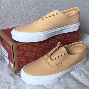 vans authentic decon smooth leather sand9.5